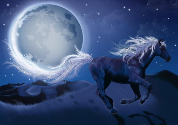 Emiliapaw5 blue horse