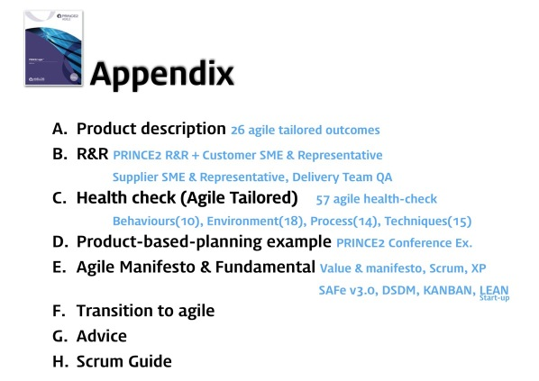 PRINCE2 Agile vs PMI ACP 26