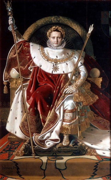 Ingres Napoleon on his Imperial throne 2