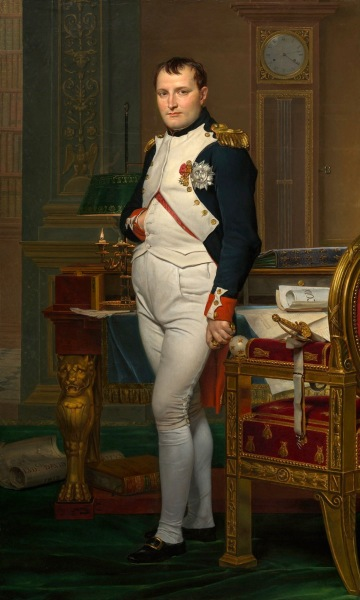Jacques Louis David The Emperor Napoleon in His Study at the Tuileries Google Art Project 2