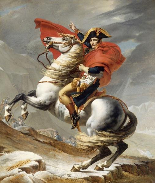 Jacques Louis David Bonaparte franchissant le Grand Saint Bernard 20 mai 1800 Google Art Project