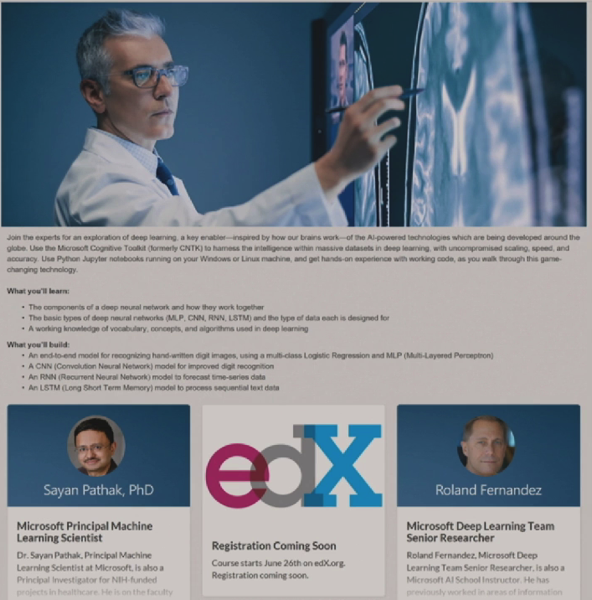 EdX CNTK course