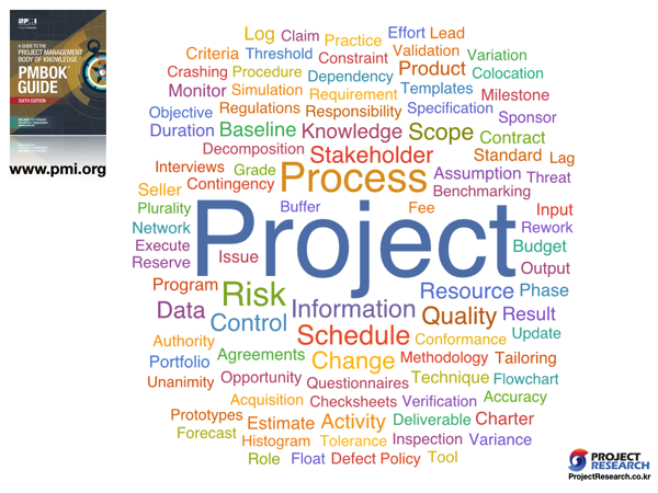 PMI WordCloud PMBOK6th